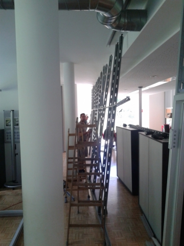 Umbau Trennwandsystem,